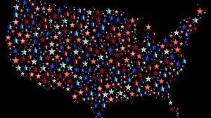 Превью обои америка, сша, карта, звезды, вектор