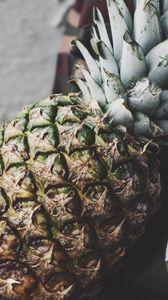 Превью обои ананас, фрукт, спелый, этикетка