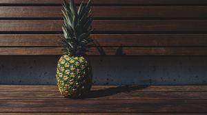 Превью обои ананас, фрукт, тень