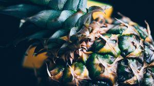 Превью обои ананас, фрукт, тропический, экзотический, крупный план