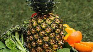 Превью обои ананас, фрукты, овощи, свежий