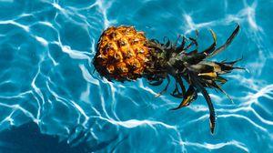 Превью обои ананас, тропики, вода, бассейн
