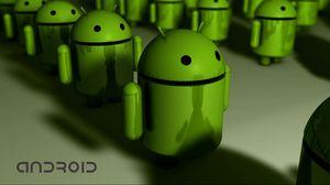 Превью обои андроид, зеленый, робот, форма, hi-tech