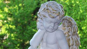 Превью обои ангел, статуэтка, гармония