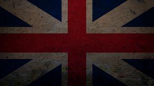 Превью обои англия, линии, кресты, красный, полосы, синий, великобритания, текстура, флаг, символ
