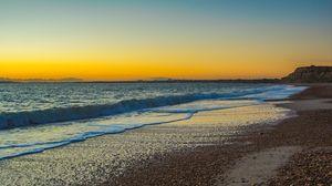Превью обои англия, океан, пляж, берег