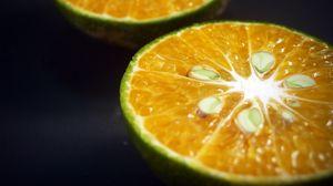 Превью обои апельсин, цитрус, надрез