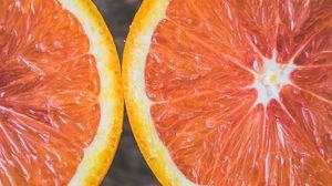 Превью обои апельсин, цитрус, срез, спелый