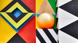 Превью обои арт, геометрия, симметрия, разноцветный, узор