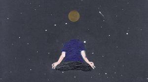 Превью обои арт, медитация, минимализм