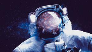 Превью обои астронавт, скафандр, космос, космонавт
