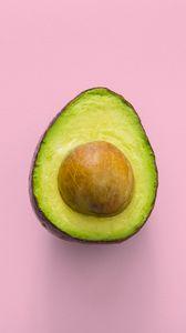Превью обои авокадо, минимализм, розовый