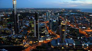 Превью обои австралия, australia, вид сверху, небоскребы