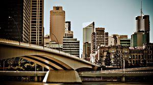 Превью обои австралия, мост, здания, река