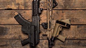 Превью обои автоматы, оружие, армия