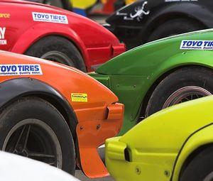 Превью обои автомобили, разноцветный, тюнинг, стоянка