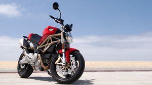 Превью обои байк, ducati, мотоцикл, красный