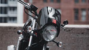 Превью обои байк, мотоцикл, вид сбоку, фонарь