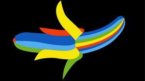 Превью обои банан, digital art, минимализм, арт, разноцветный