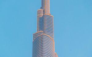 Превью обои башня, небоскреб, здание, архитектура, небо, минимализм