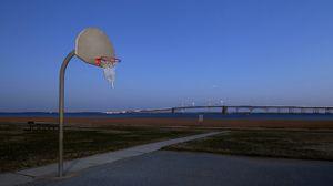 Превью обои баскетбол, щит, площадка