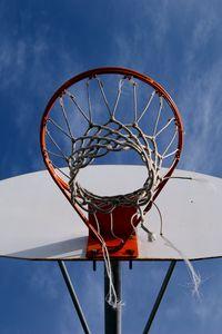 Превью обои баскетбол, сетка, кольцо, небо, вид снизу
