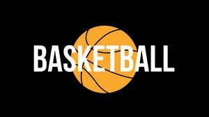Превью обои баскетбол, слово, мяч, надпись