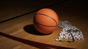 Превью обои баскетбол, свисток, сетка, спорт