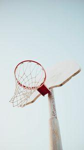 Превью обои баскетбольное кольцо, баскетбол, кольцо, небо, спорт