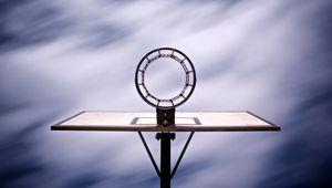 Превью обои баскетбольное кольцо, баскетбол, спорт, вид снизу