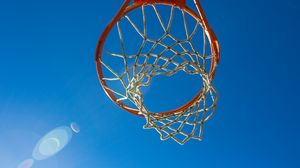 Превью обои баскетбольное кольцо, сетка, баскетбол, спорт
