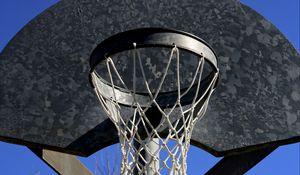 Превью обои баскетбольное кольцо, сетка, небо, баскетбол, спорт