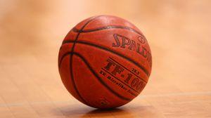 Превью обои баскетбольный мяч, мяч, линии, баскетбол, спорт