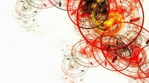 Превью обои белый, овалы, круги, абстракция