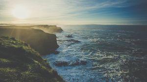 Превью обои берег, море, скалы
