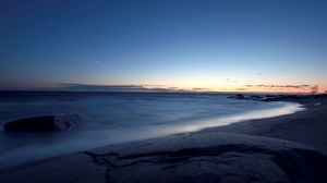 Превью обои берег, море, свет, небо