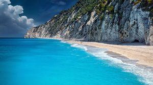 Превью обои берег, океан, скалы
