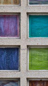 Превью обои бетон, квадраты, разноцветный, текстура
