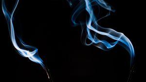 Превью обои благовоние, дым, изгибы, темный