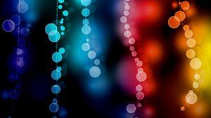 Превью обои блики, боке, круги, разноцветный, размытость