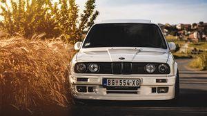 Превью обои bmw, 325i, e30, белый, авто