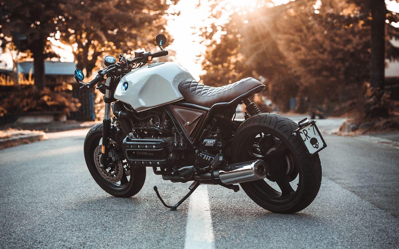 1280x800 Обои bmw k100, мотоцикл, байк, вид сбоку