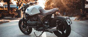 Превью обои bmw k100, мотоцикл, байк, вид сбоку