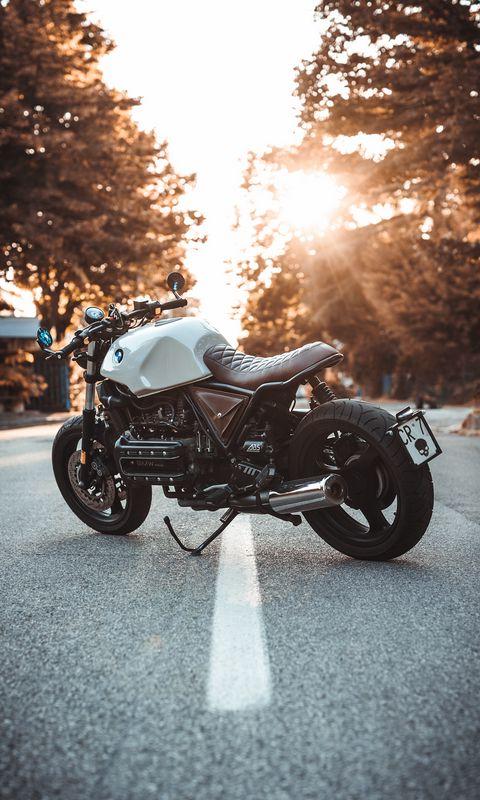 480x800 Обои bmw k100, мотоцикл, байк, вид сбоку