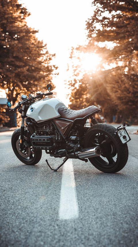 480x854 Обои bmw k100, мотоцикл, байк, вид сбоку