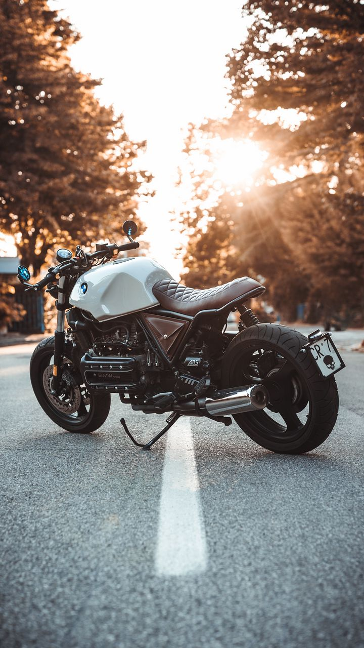 720x1280 Обои bmw k100, мотоцикл, байк, вид сбоку