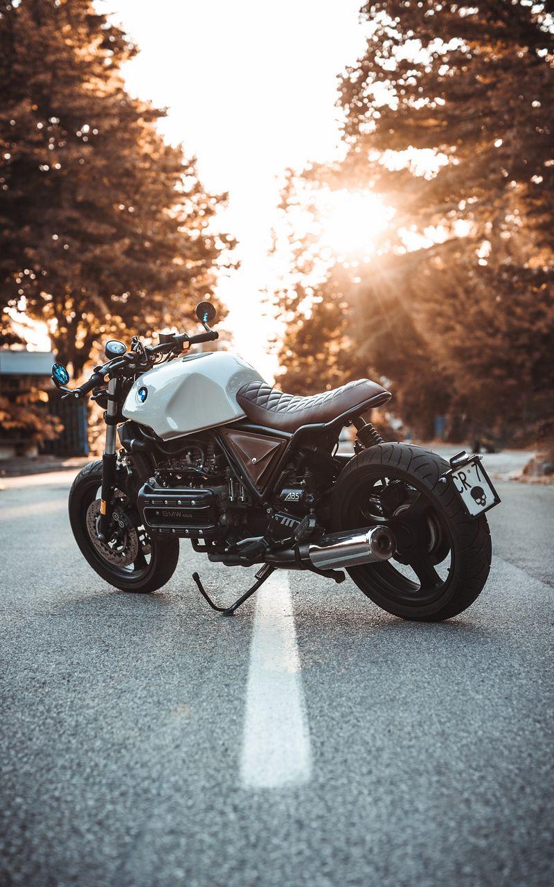 800x1280 Обои bmw k100, мотоцикл, байк, вид сбоку