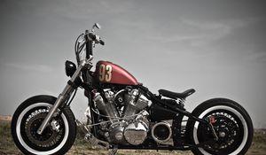 Превью обои bobber, xv1600, мотоцикл, стиль, байк