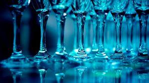 Превью обои бокалы, стекло, тень, набор