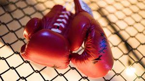 Превью обои боксерские перчатки, борьба, бокс